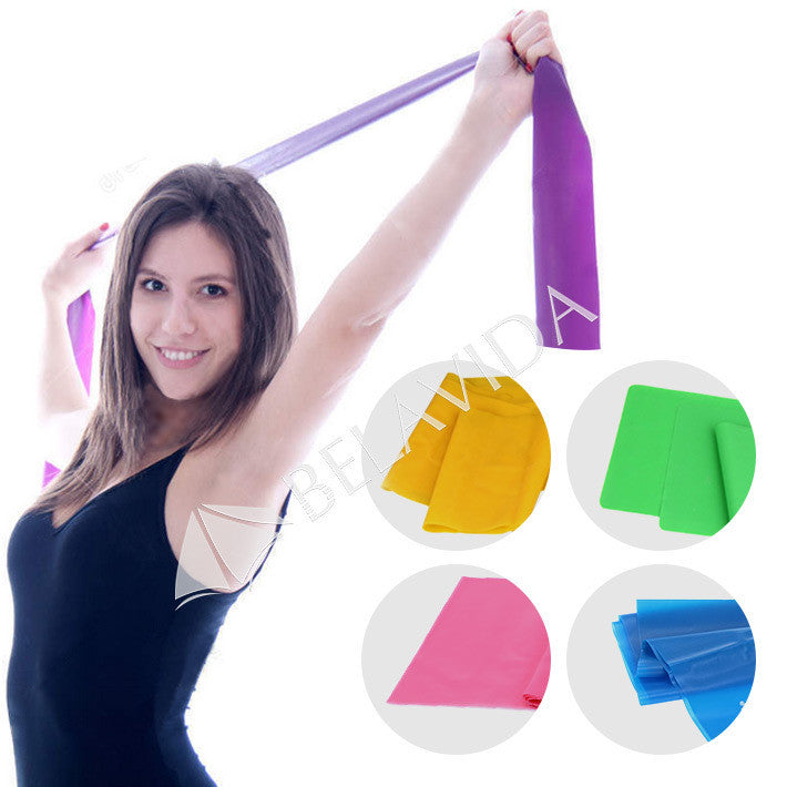 1.5m Yoga Pilates Stretch Resistance Band Exercise Fitness Band Training Elastic Exercise Fitness Rubber 150cm High Quality - Gifts Leads