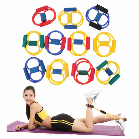 1Pcs Resistance 8 Type Muscle Chest Expander Rope Workout Fitness Exercise Yoga Tube Sports Pulling Exerciser free shipping - Gifts Leads
