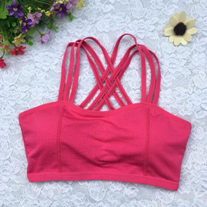 Hot Sexy Woman Top Fitness Women Hot Racerback Bra Tank Padded Underwear Vest Crop Top