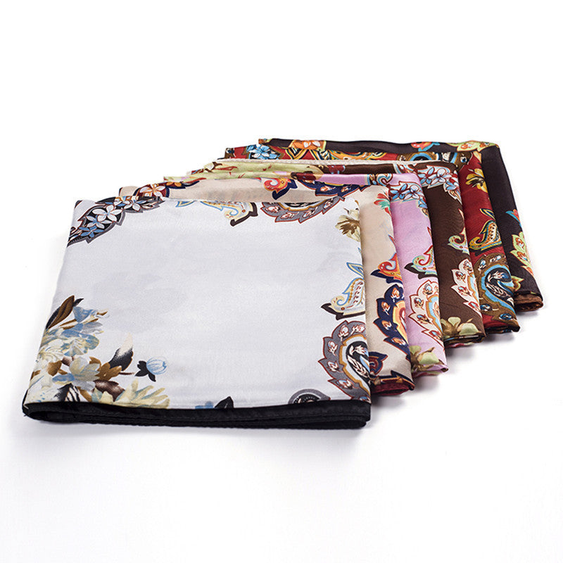 Satin Scarf Women Fashion Luxury Designer Brand Bandana Large Square Scarf Female Ladies Hijab