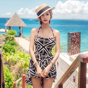 2016 Cute women swimwear tankinis set Union Jack pattern backless ladies Summer dress long tail swimsuit swallowtail beach wear - Gifts Leads