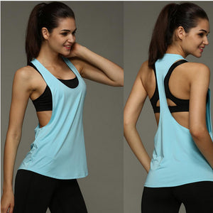 Summer Sexy Women Tank Tops Quick Dry Loose Fitness Sleeveless Vest Singlet for T-shirt Runing