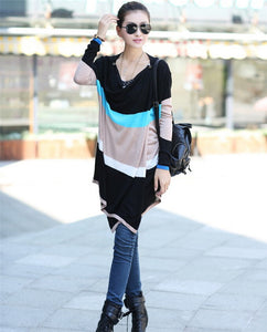 Women Long Cardigans Spring Coat 2016 Colorful Stripes Knitted Sweater Pull Femme Outerwear Gilet Femme Manche Longue Casual