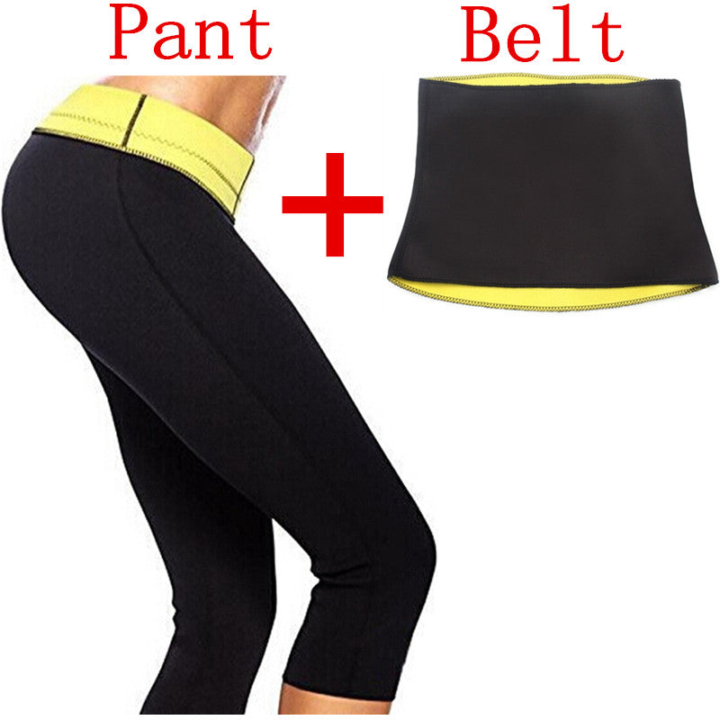 ( Pant + Belt ) Hot Shaper Body Shapers Control Short Slimming Panties Pants & Belts Super Stretch Neoprene Breeches For Women