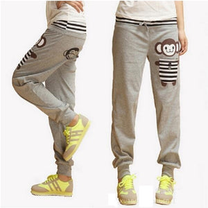 2016 Spring Women Pants Harem Pants Monkey Printed Sports Pants Casual Loose Pants Women Sweatpants Women Joggers