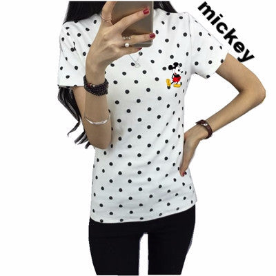 Women Dress Summer New Fashion Female T-shirt Korean Sweet Cartoon Cat Printed Ladies Short Sleeve Tops Factory Outlets