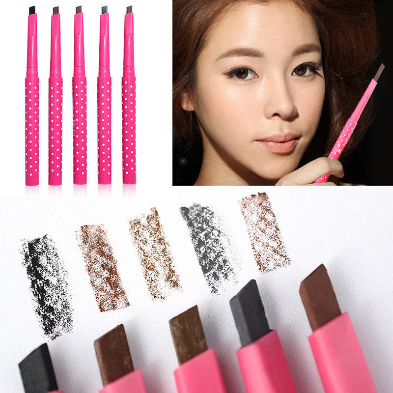 1 PCS HOT Women Ladies Waterproof Brown Eyebrow Pencil Eye Brow Liner Pen Powder Shaper Makeup Tool 5 colors Hot Sale