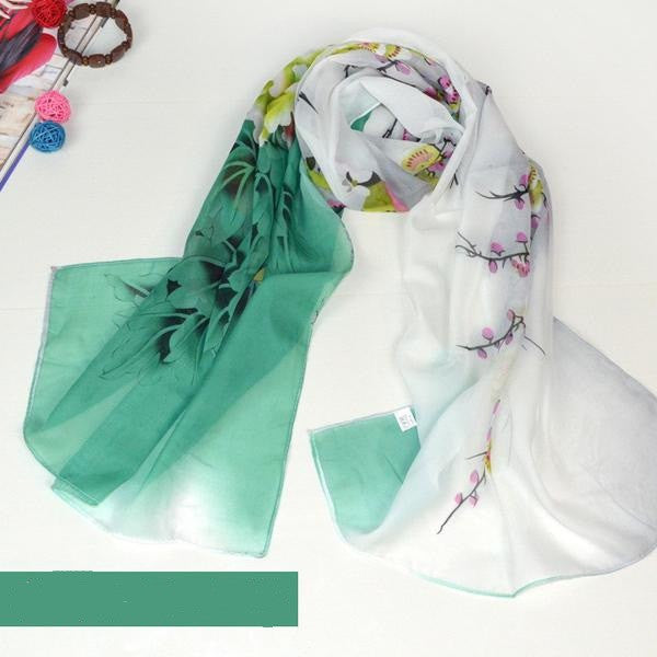 Chiffon Silk Scarf Women Fashion Designer Brand Scarf Winter Shawls And Scarves Sjaal Cachecol Echarpes Foulards Femme
