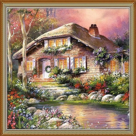 2016 New 100% Full Area Highlight Diamond Needlework Diy Diamond Painting Kit  Diamond Cross Stitch Plants Embroidery 25x25cm