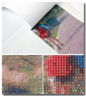 Kitchen Flower Diamond Embroidery 3d Diy Diamond Painting Kits for Square Full Drill Rhinestone Embroidered Mosaic Needlework
