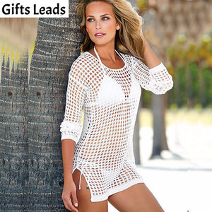 2016 Women Sexy Crochet Beach Cover Up,  Fashion Women Swim Suit Cover Ups, Women Beach Wear