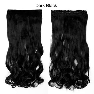"23""  58 CM 145g Synthetic 3/4 Full Head Clip In Hair Extensions Straight Hairpiece Halloweek Hair"