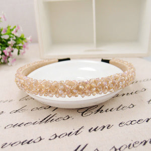 Fashion Shining Full Crystal Modern Style Rhinestone Headband Hairbands Headwear Hair Accessories For Girl Women Wedding Jewelry