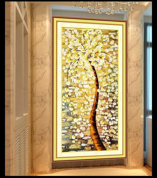 DIY 5D diamond painting 5D diamond cross stitch crystal round diamond sets unfinished full diamond embroidery Tree of Life