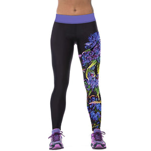 So Sexy Womens YOGA Workout Gym Digital Printing Sports Pants Fitness Stretch Trouser New Arrival