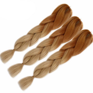 Ombre Kanekalon Braiding Hair braid 100g/piece Synthetic Two Tone High Temperature Fiber Kanekalon Jumbo Braid Hair Extensions