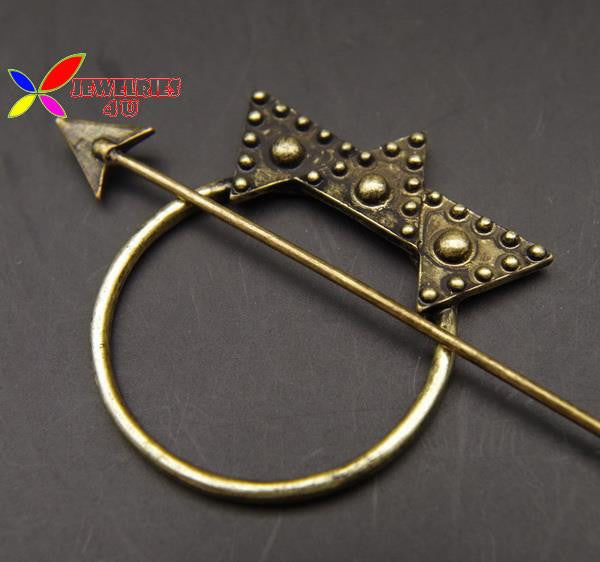 2016 Fashion Designer Vintage antique gold arrow triangle hair clasp jewelry hair sticks for women accessories varas de cabelo