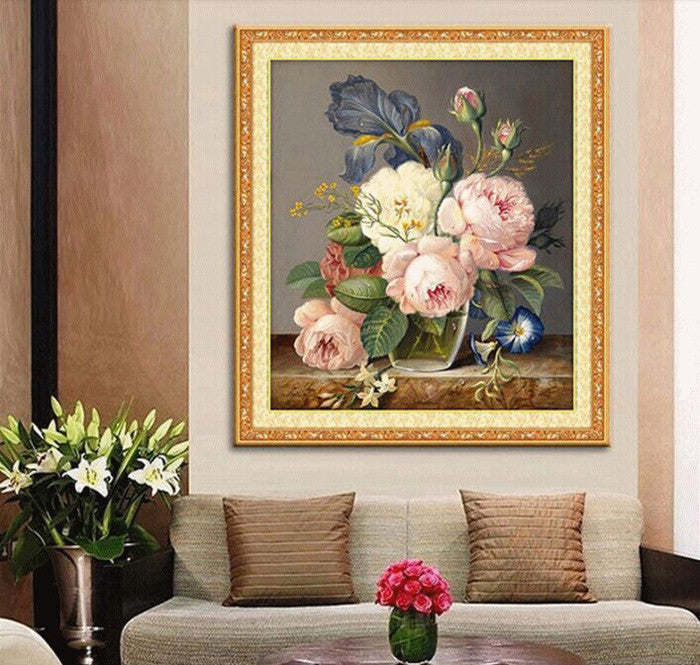 5D Diamond Embroidery diamond mosaic flower picture 3D diy diamond painting needlework flores canvas Home Decoration canvas GIFT