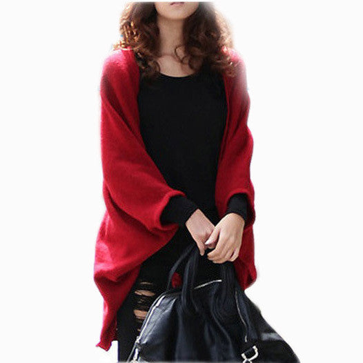 2016 New Fashion Women Casual Knitted Sweater Long Sleeve Coat Jacket Outwear Tops Cardigan Female