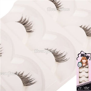 10 Pairs Makeup Handmade Natural Fashion False Eyelashes Soft Long Eye Lash Cosmetic