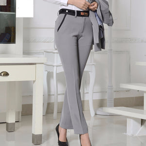 Quality OL Style Brand New Formal Pants Women Work Wear Office Career Slim Long Straight Suit Pant Ladies Trousers Plus Size 3XL
