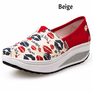 Hot Summer Shoes Women's Sport Fashion for Women Swing Wedges platform zapatos mujer canvas trainers tenis feminino Toning Shoes