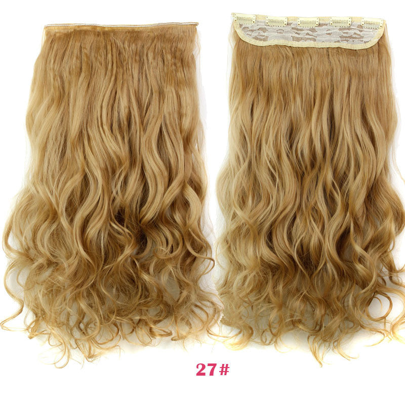 Guess fashions women Long 24inch 60cm 5 Clip in On Curly Hair Extensions Synthetic false Hairpiece blonde secret hair pad pieces