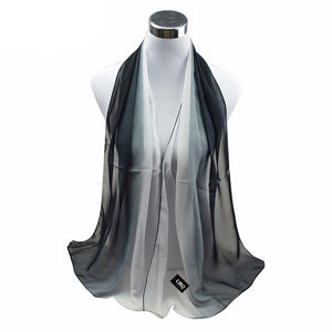 1PC Hot Fashion Shawl Scarf Chiffon Glitter Ombre Hijab Neck Warmer Silk Scarf Women Girls Cape 50*160 Long Headband