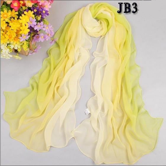 1PC Hot Fashion Shawl Scarf Chiffon Glitter Ombre Hijab Neck Warmer Silk Scarf Women Girls Cape 50*160 Long Headband - Gifts Leads