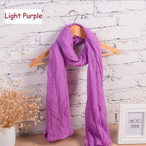 180*80 Cm Classic Solid Colors Women Scarf And Shawl Autumn Winter Scarf For Women Scarf High Quality echarpes foulards femme - Gifts Leads