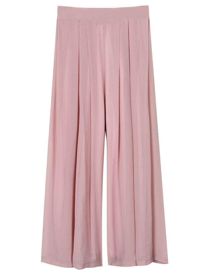 Women Summer Style Wide Leggings Harem Gaucho Elastic High Waist Loose Casual Chiffon Palazzo Pants 2016 Fashion 12 Colors