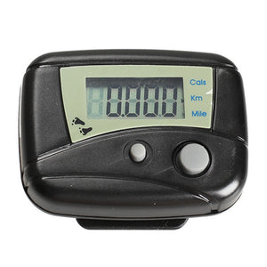 1pcs Black Digital LCD Run Step Run Pedometer Walking Calorie Counter Distance Clip-on - Gifts Leads
