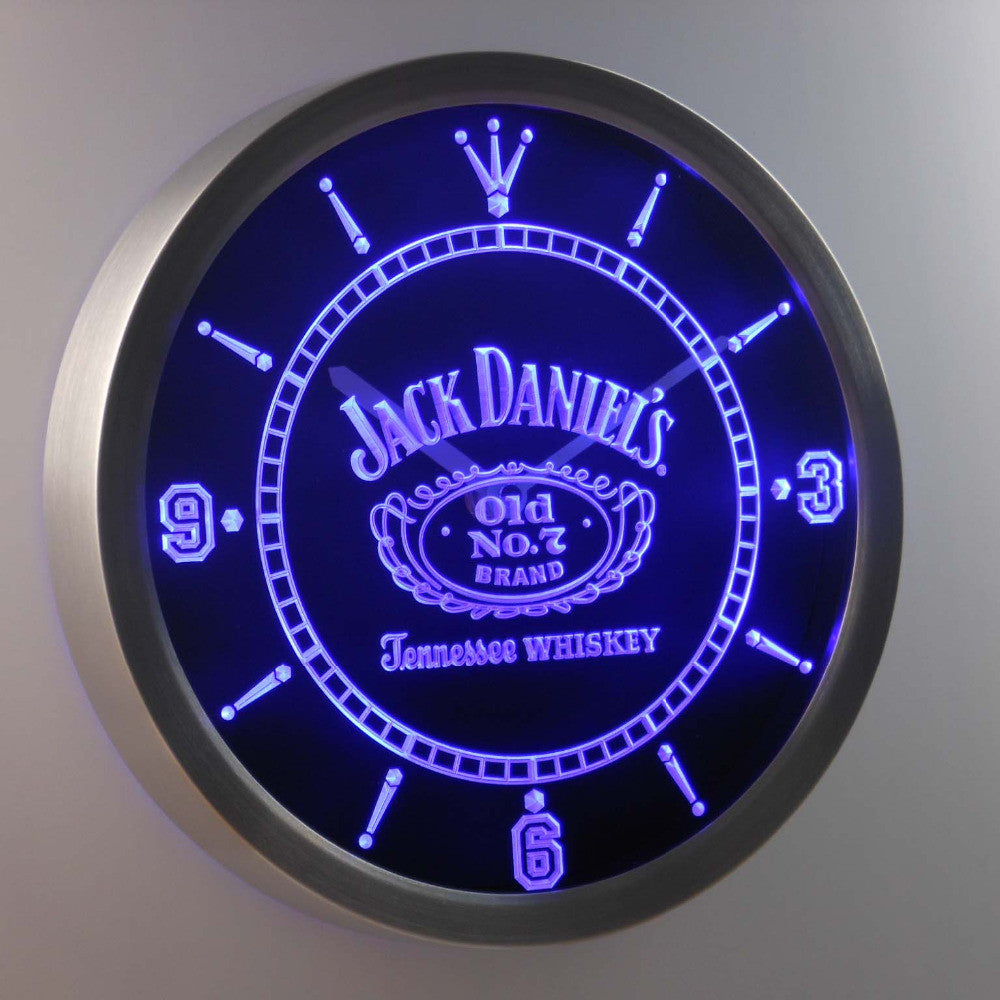 Jack Daniel's Whiskey Neon Sign LED Wall Clock