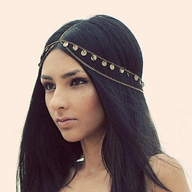 Hot Women Fashion Metal Head Chain Headband Head Piece Hair Band