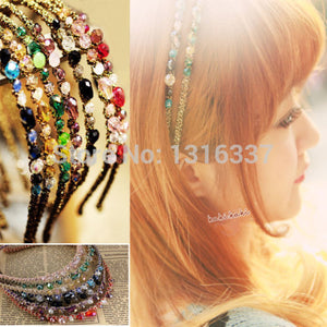 2016 fashion korean new style  Crystal Headband Hairband Daily Party Hair Accessories for Women Girls