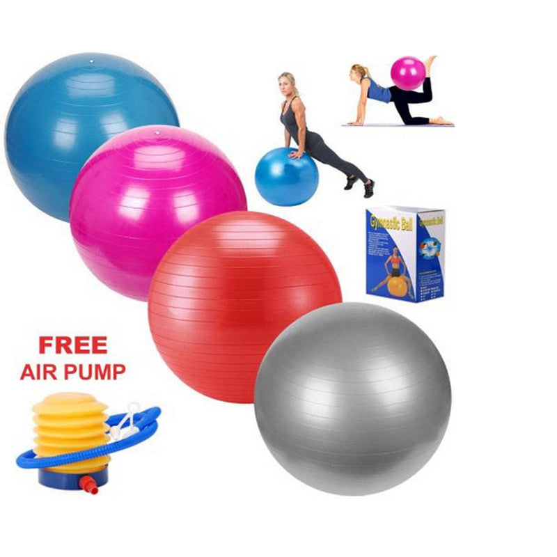 Tiling 65cm Anti Burst Gym Exercise Yoga Fitness Ball Office Slimming Thin Body Weight Loss Goals Sport Pilates Ball+Air Pump