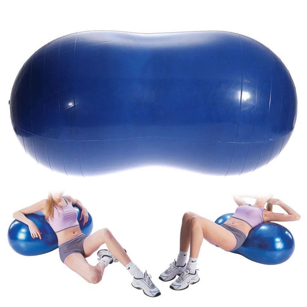 Anti-Burst Yoga Ball Peanut Shape Fitness Exercise Health Sports Gym Colorful 68x35cm Durable Free shipping