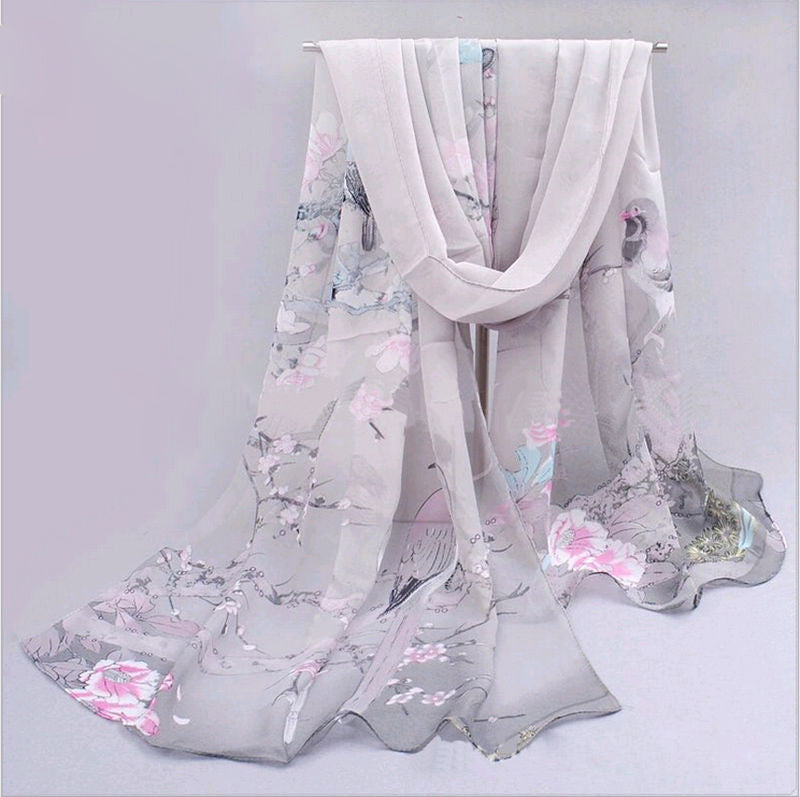Fashion Chiffon Women Ladies Scarf Neck Shawl Scarf Scarves Wrap Warm Gift