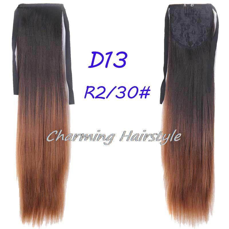 "22""Long Straight Fake Hair Ponytail Apply Hair Clips Pony Tails Hairpiece Ribbon Ponytails Extensions Synthetic Hair Piece Tress"