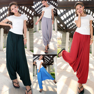 2016 Men And Women's Big crotch pants harem pants casual trousers bloomers radish skorts pant  meditation pants