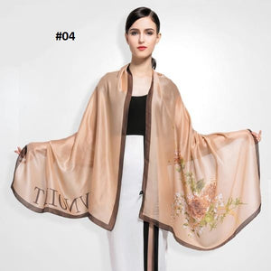 2016 Fashion Women Scarf Bohemia Style Shawl Brand Luxury Printed Letter Scarf Female Soft Scarves