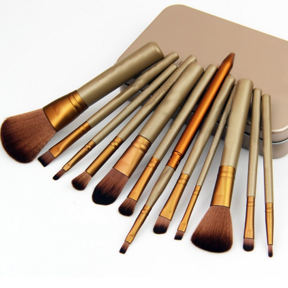 12 Pcs Makeup Tools Kit Cosmetic Eyeshadow Foundation Concealer Brushes Set Hot Selling