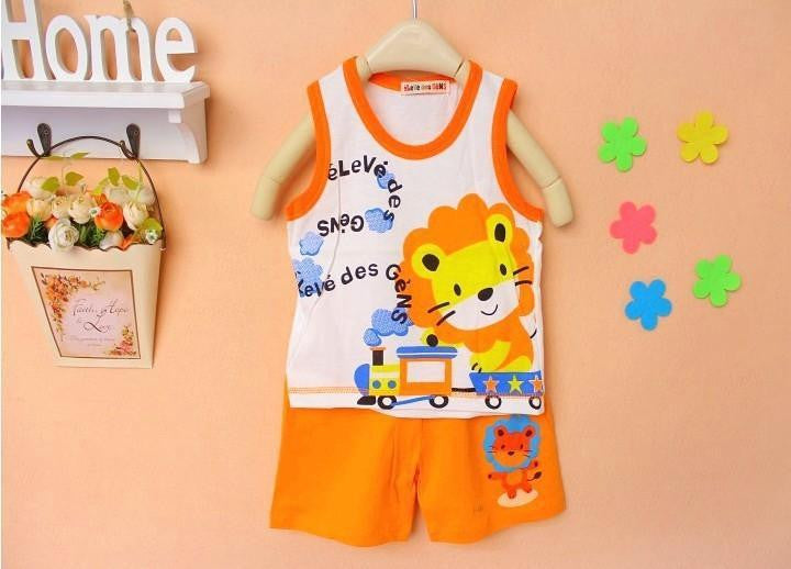 Brand New Children's Set Baby Kid's t-shirts For Girls Boys Clothes t shirt+pants Undershirt Shorts Clothing Set