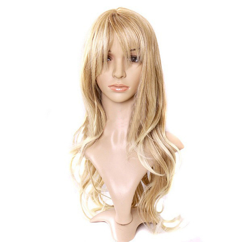 Hot sale Charming Blonde Long Wavy Costume Wig Hair Women's Fashion Wig Curly Hair Wigs With Bangs Long Curly Hair