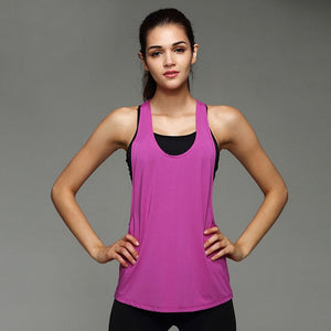 Women Gym Sports Shirt Yoga Top Sleeveless Vest Fitness Runnging Clothes Camisetas Deporte Mujer Women Tops