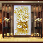 30*56cm 5D DIY diamond Painting crystal lily flower 3D Cross Stitch Decorative Needlework diamond mosaic diamond embroidery