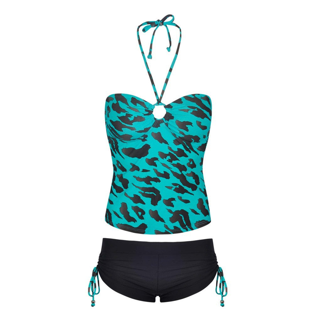 Winmax Sexy Swim Suit Whole Piece Green Leopard PrintSwimsuit High Waist Lady Bikini Swimming Suits