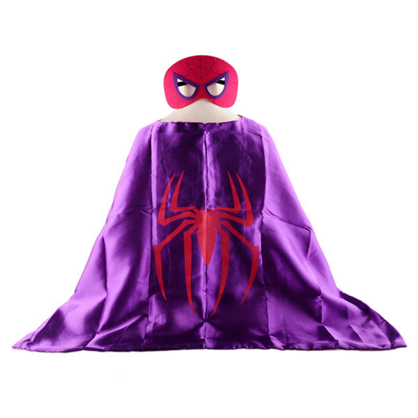 Mask+cape superman spiderman kids superhero capes batman superhero costume suits for boys girls for party
