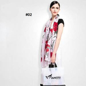 2016 Higi Quality Digital Printing Women Scarf Brand Shawls and Scarves 100% Silk Foulard Femme Luxury