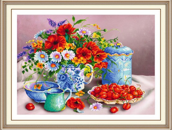 5D DIY diamond Painting flowers 3D Cross Stitch diamond embroidery mosaic diamonds wall stickers home decor restaurant